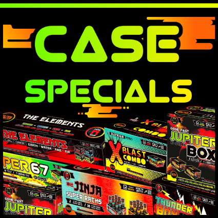 Buy fireworks by the case and save in Houston and Katy, Texas. The best and cheap fireworks to offer in town.