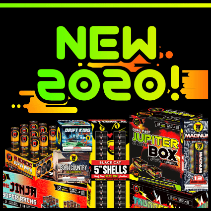 New products that are available at Elite Fireworks warehouse in Houston, Texas!